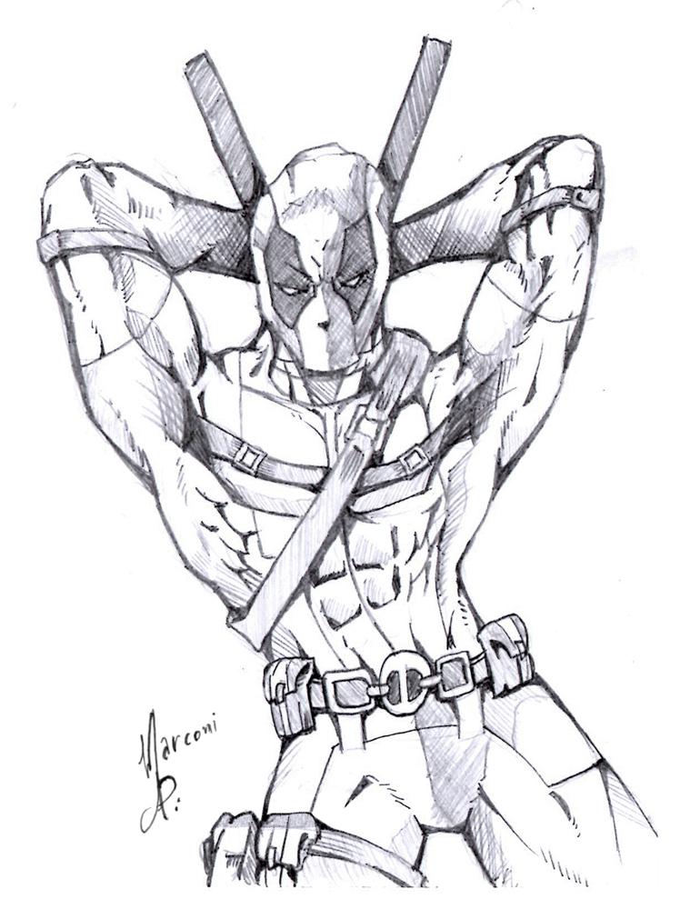 Deadpool Sexy By Marconi Desenhos On Deviantart