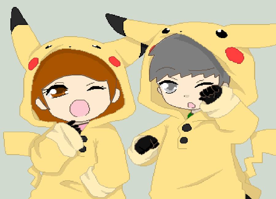 cute pikachu couple pokemon - photo #9