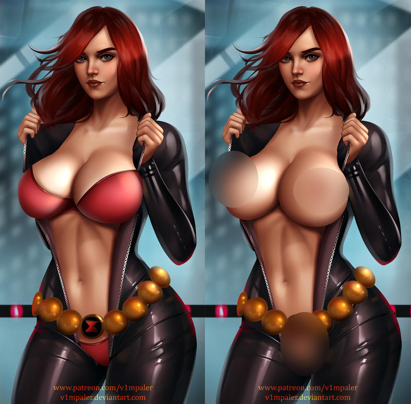 NSFW Summer Black Widow Already on Patreon! by v1mpaler