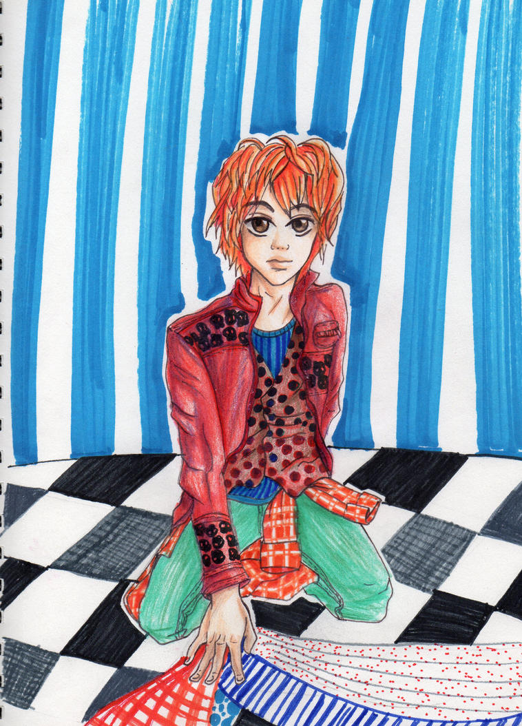 Boy with patterns by love-meli