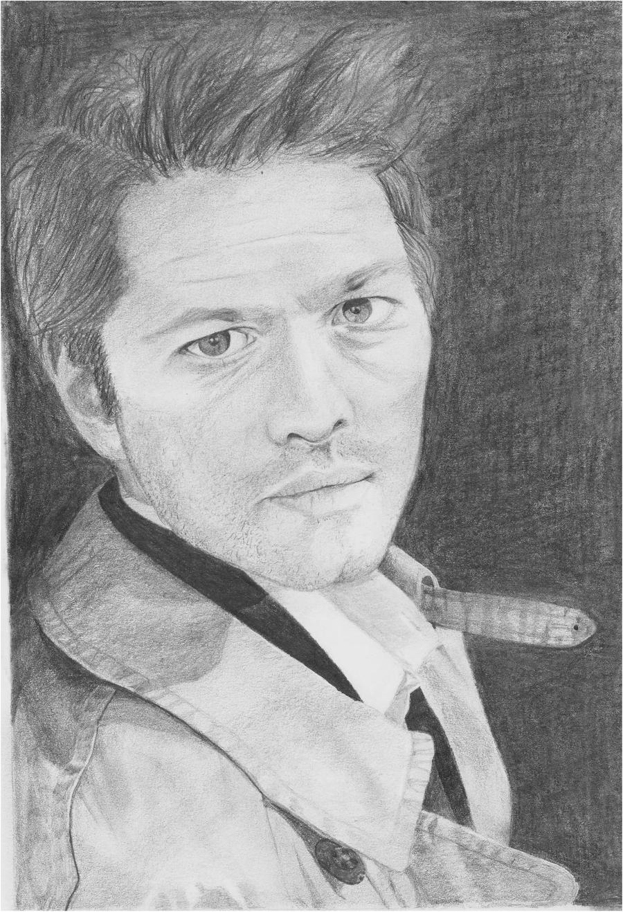 Misha Collins -Castiel- Supernatural by clamia