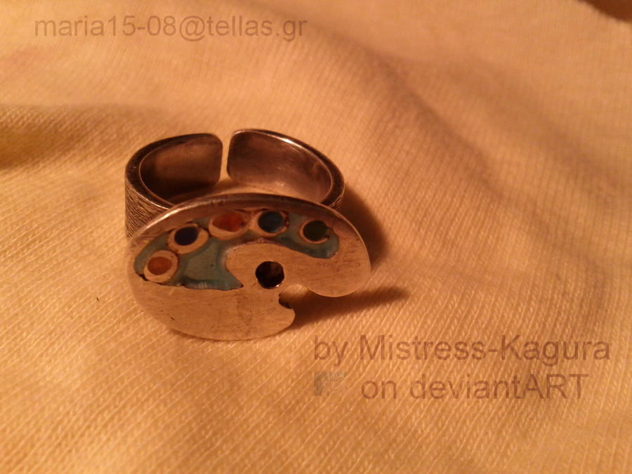 paint pallet ring by Mistress-Kagura