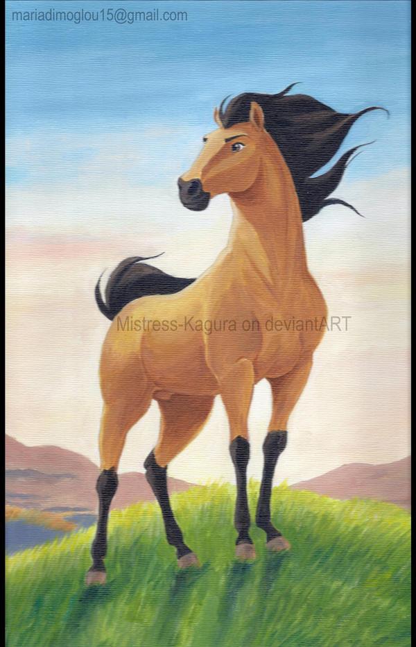 Spirit,the wild stallion by Mistress-Kagura