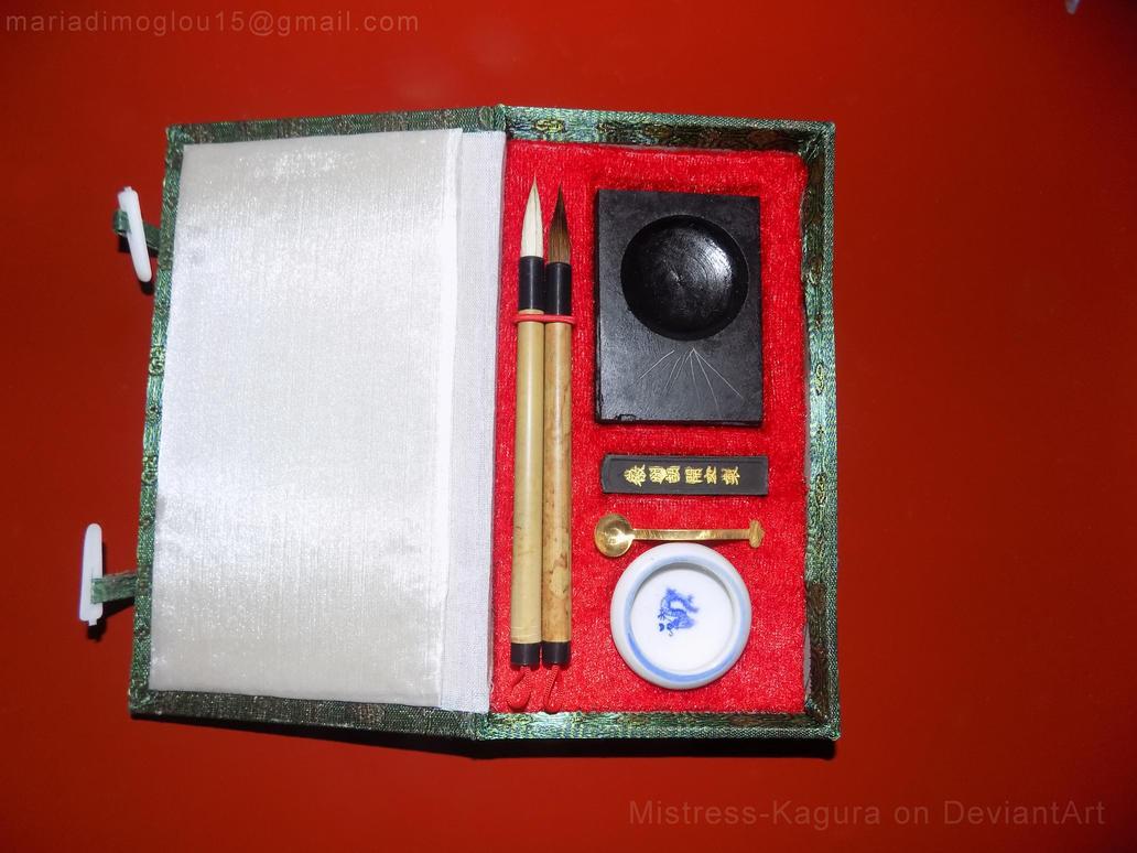 Japanese Sumi Ink and Brush Set by Mistress-Kagura