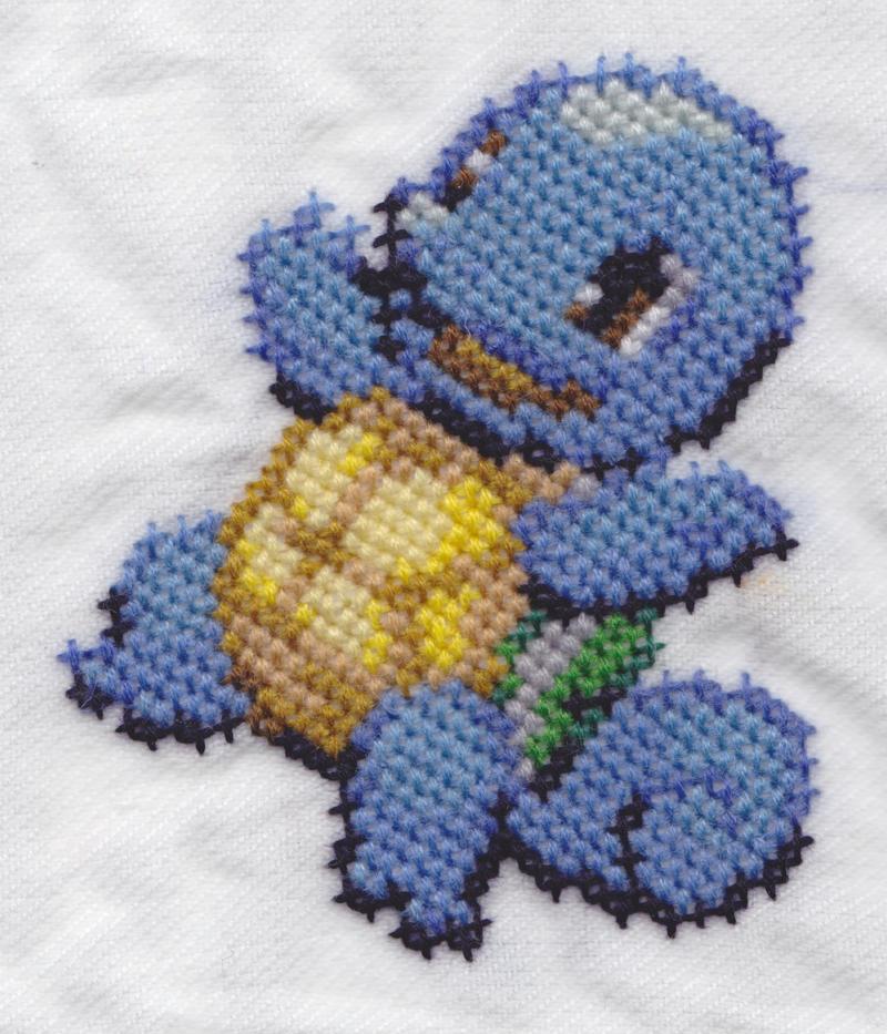 Pokemon Napkin Squirtle by RetroStitch