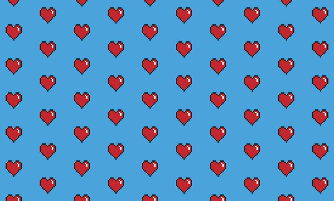 8 Bit Heart Valentines Day iPhone 5 Wallpaper  iPod