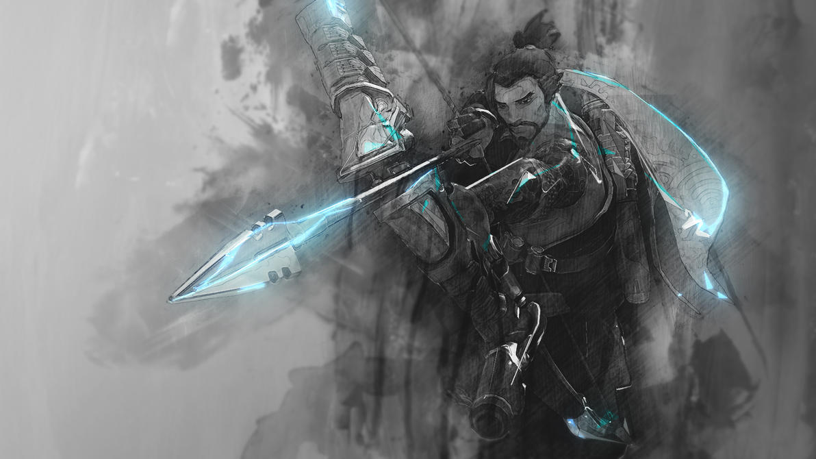 hanzo - overwatch wallpaperraycorethecrawler on deviantart