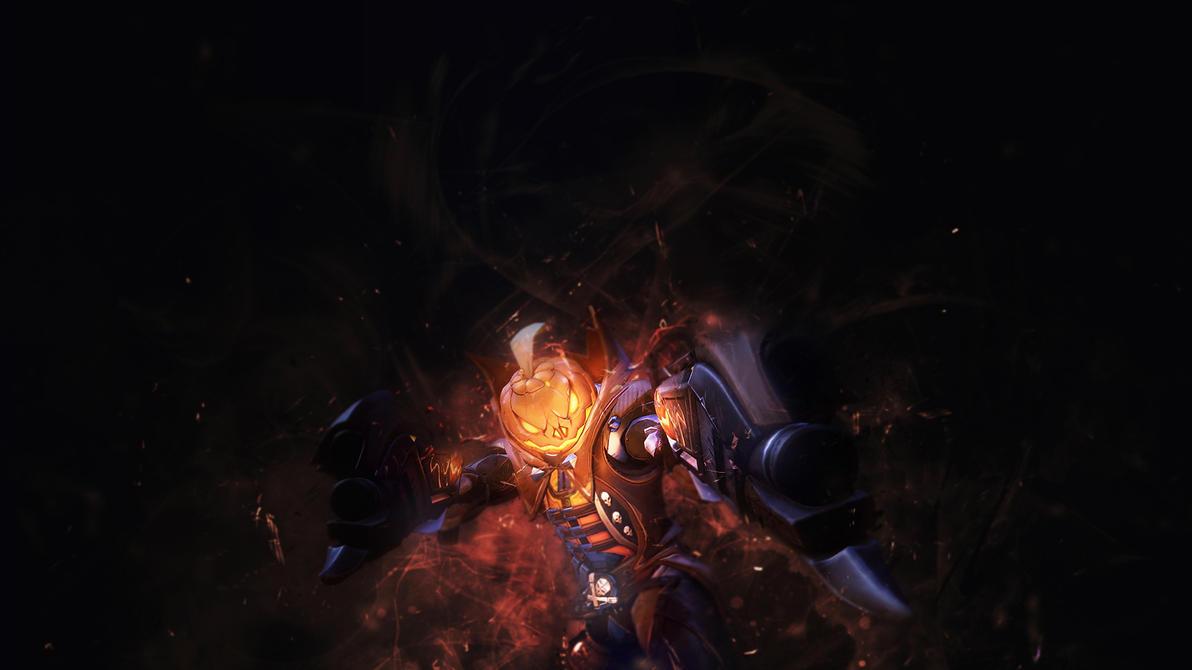 Pumpkin Reaper - Overwatch Wallpaper by RaycoreTheCrawler