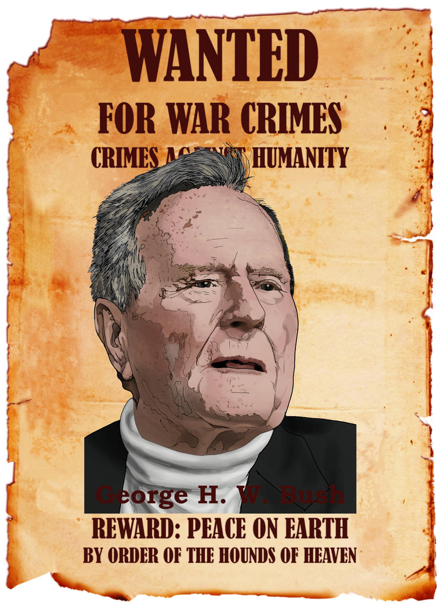 bush wanted poster by jbeverlygreene