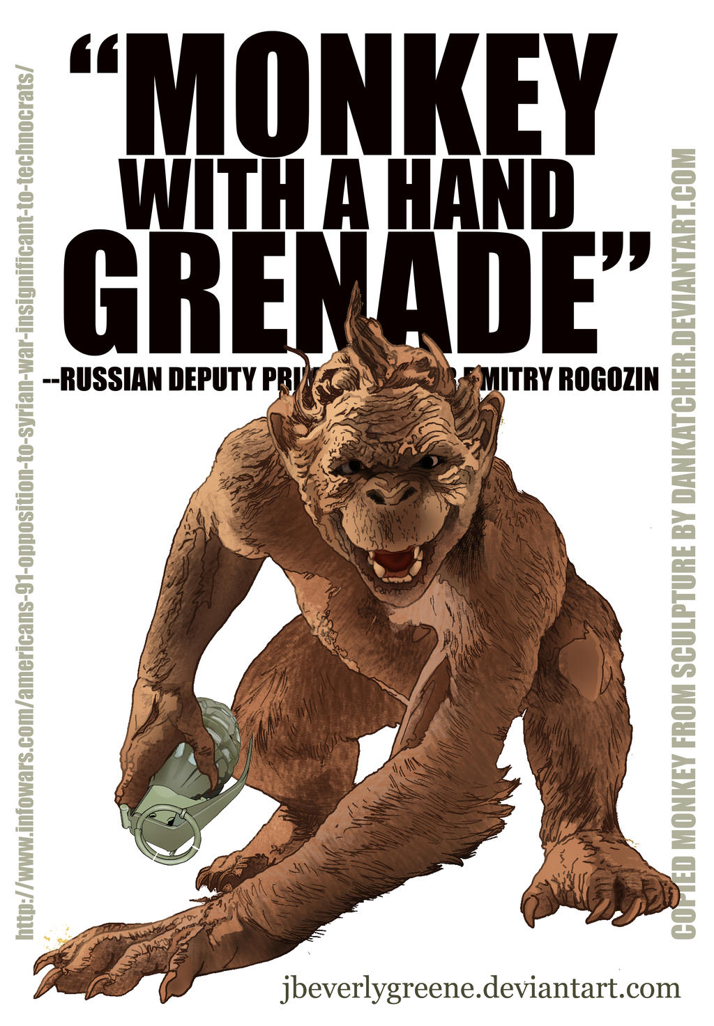 Monkey With A Hand Grenade Copy