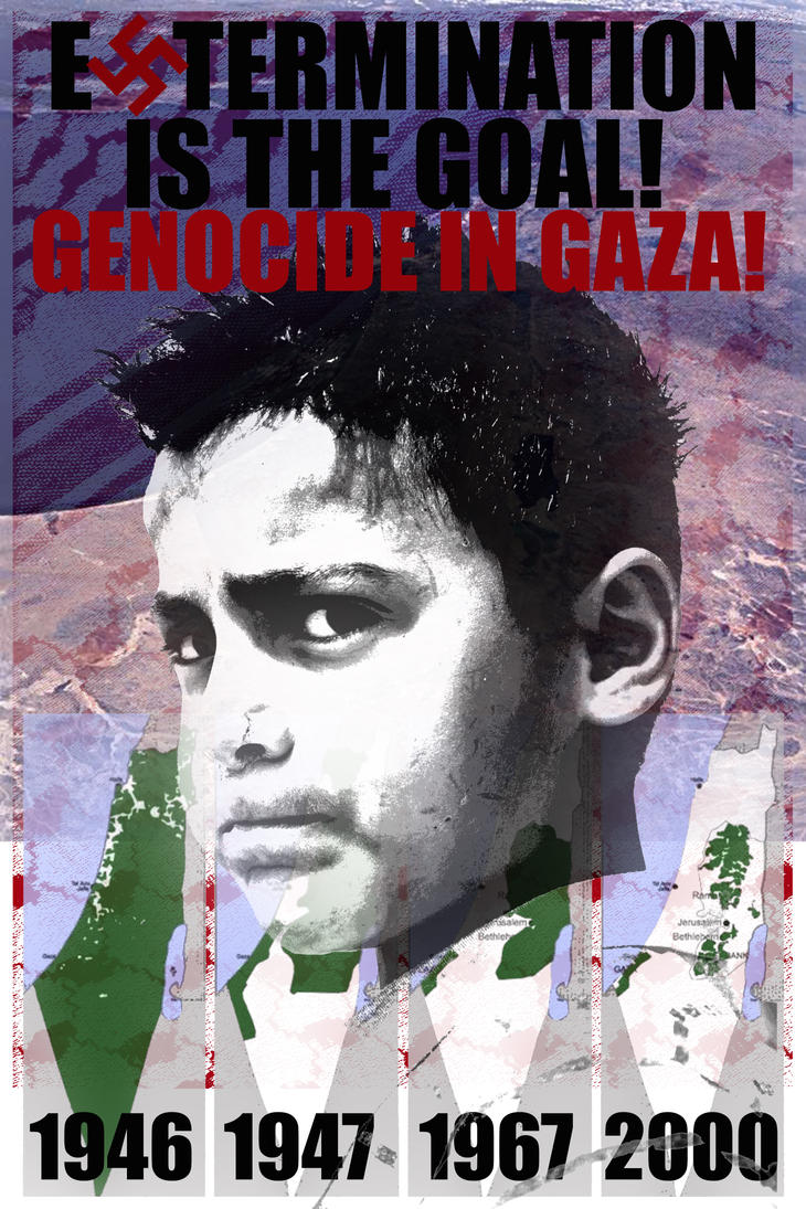 genocide in Gaza copy by jbeverlygreene