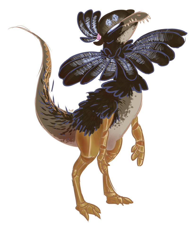 SCP 073 as a Dilophosaurus i guess by Artevo-Des-Lavabo