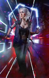 Ciri Cyberpunk 2077 by Akarana