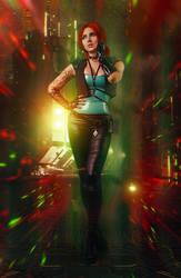 Triss Cyberpunk 2077 by Akarana