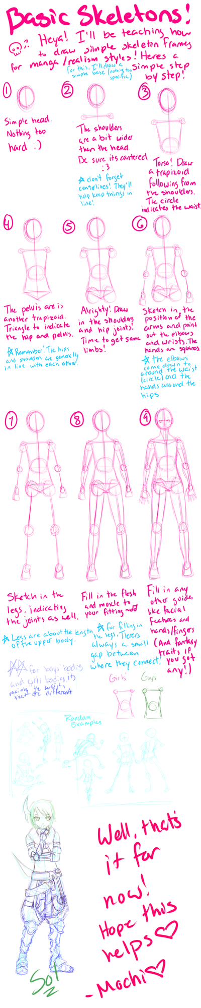 How To Skeleton Frames By Kidicarus242 On Deviantart