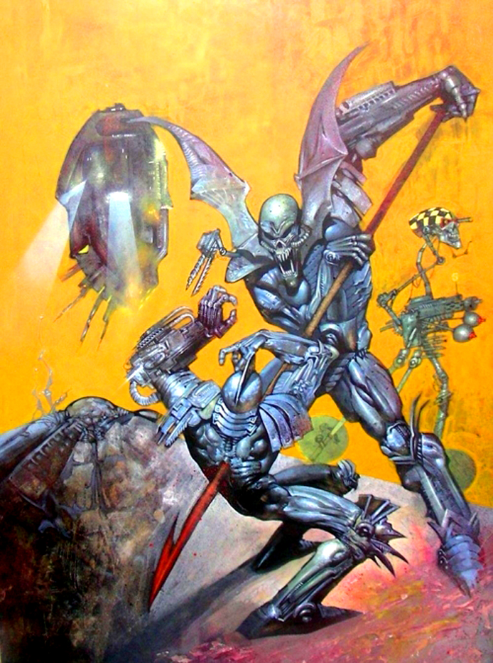 A1 Book 4 cover by SIMON BISLEY