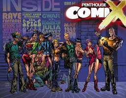 Penthouse Comix cover 31 by MIKE LOPEZ - JOE WEEMS by DeevElliott
