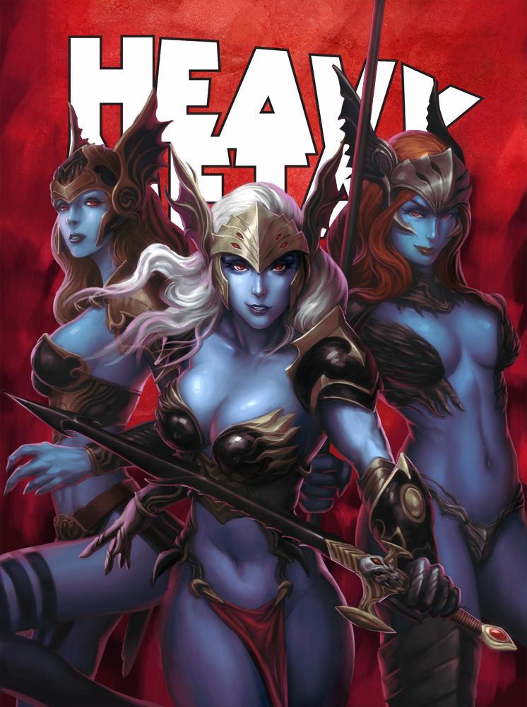 HEAVY METAL September Cover - KUNKKA by DeevElliott