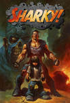 SHARKY trade cover by ALEX HORLEY with new logo.