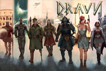 DRAVN Heavy Metal issue 262 cover by KENDRICK LIM by DeevElliott