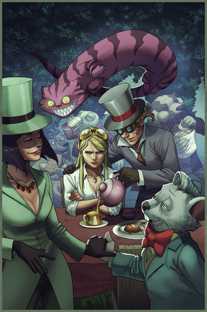 Weirding Willows The Mad Hatter's Tea Party by DeevElliott