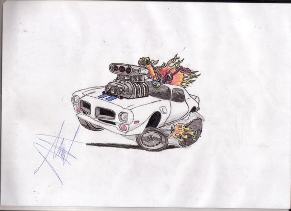 pontiac firebird caricature by that-car-bloke