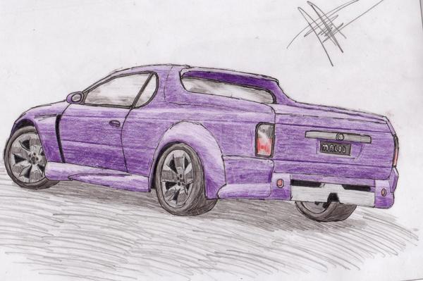 Holden Maloo Ute. Black Holden Maloo Ute