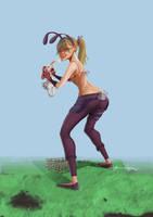 Bunny Ninja Trap by Popsaart
