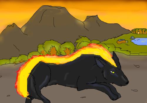 Mes dessins - Page 2 Pyro_version_1_by_redwolf2005-d2xs4xw