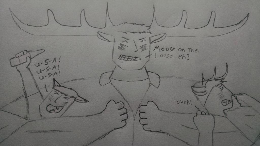 Mike the moose by RangoFox