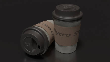 Render Wednesday- Coffee Cup