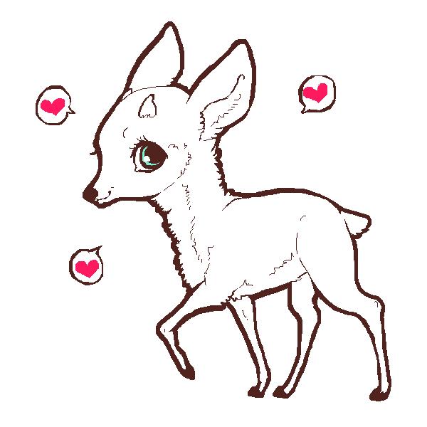 Line Art Deer : Deer lineart by vulpez on deviantart