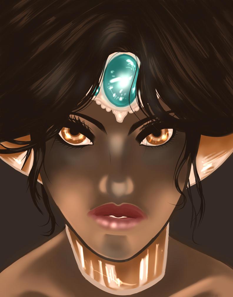 Princess Jasmine - Aladdin Fan Art by ink110
