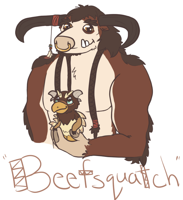Beefsquatch by Velvet--Kitten