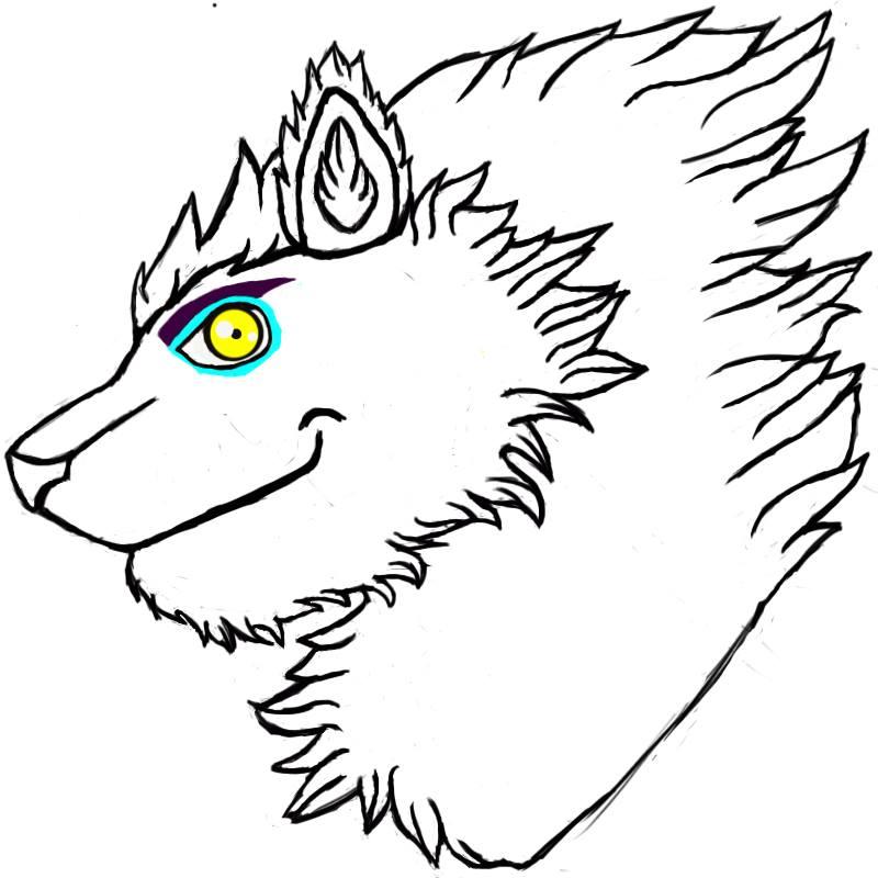 normal animatronic Blitz husky wolf hybrid by Glacierlioness