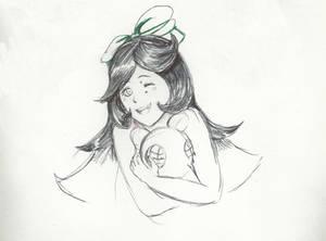 Pen Half Body Commission sketch