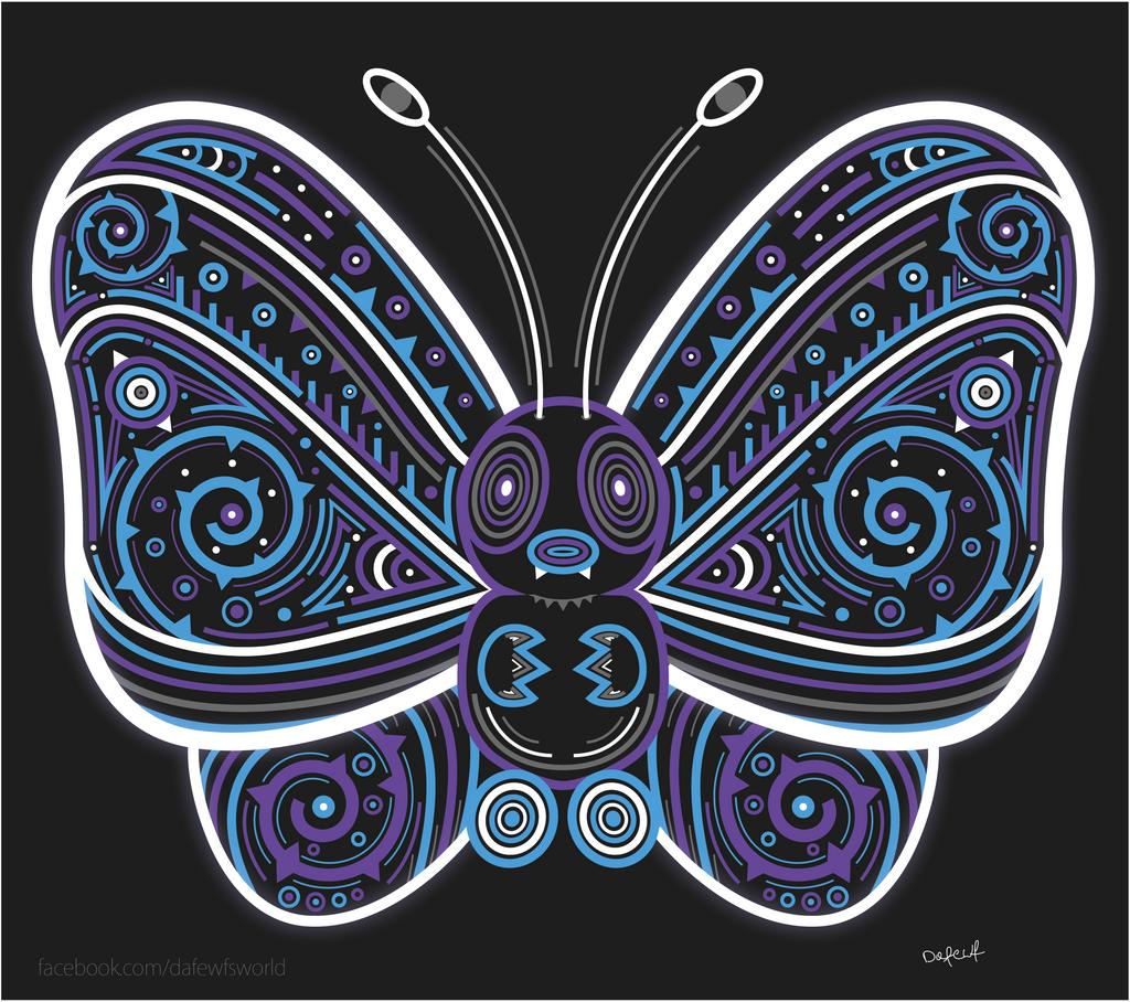 Awakened Butterfree by Dafewf