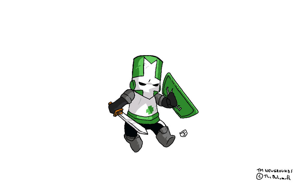 Castle Crashers Green Knight by JaktheRabbit