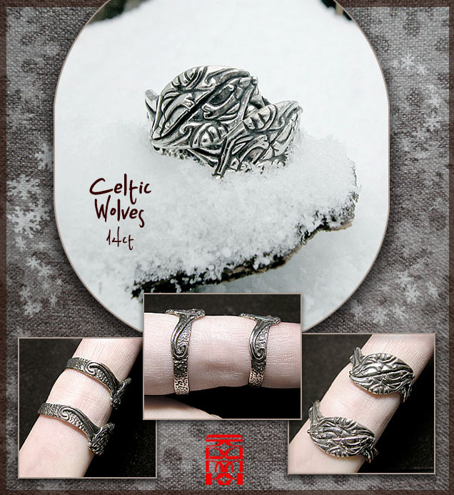 Celtic wolves rings by somk