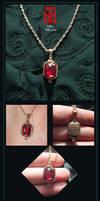 Super simple ruby pendant by somk