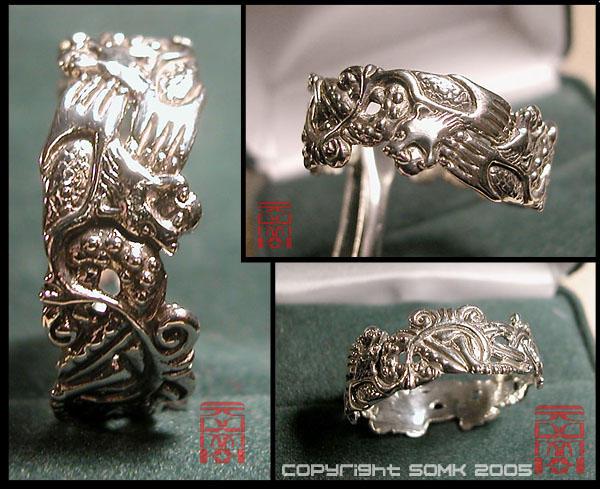 ring viking bears by somk - Norse Wedding Rings