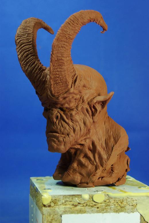 cornu bust3 by sculptart31