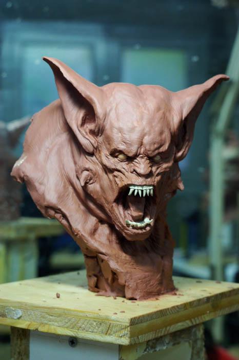 werewolf bust2 by sculptart31