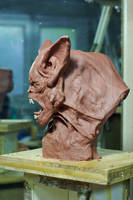 werewolf bust3 by sculptart31