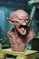 vampire bust by sculptart31