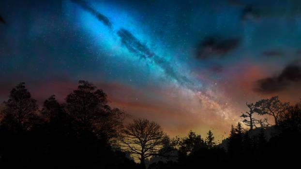 Milky Way on sunrise