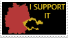 Germany and Sudetenland-I support it stamp by Linumhortulanus