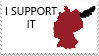 Germany and Pomerania-I support it stamp by Linumhortulanus