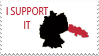 Germany and Silesia-I support it stamp by Linumhortulanus