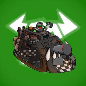 Carbot W40K Ork : Kill bursta tank